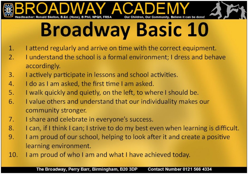 broadway basics